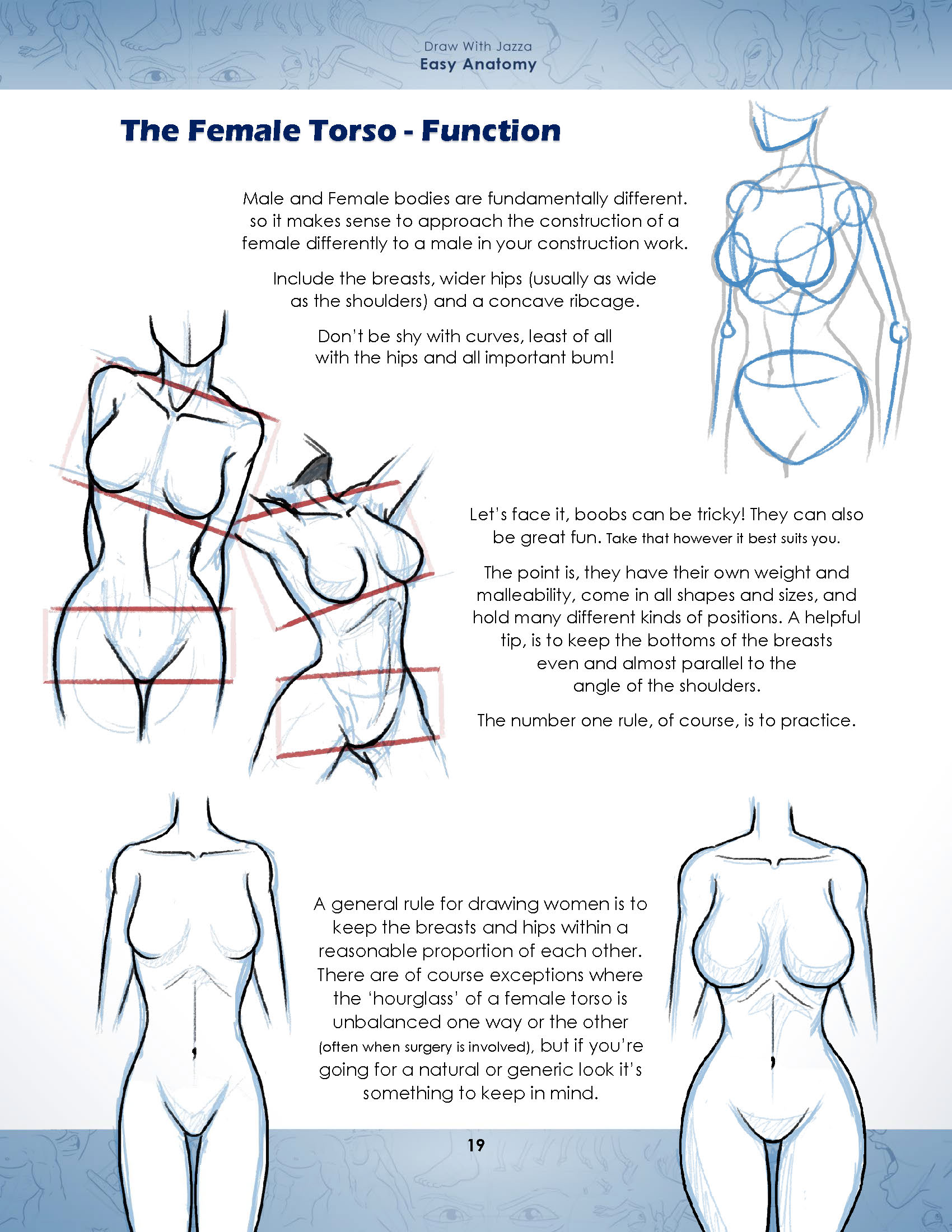 Draw With Jazza: Easy Anatomy | Jazza Studios