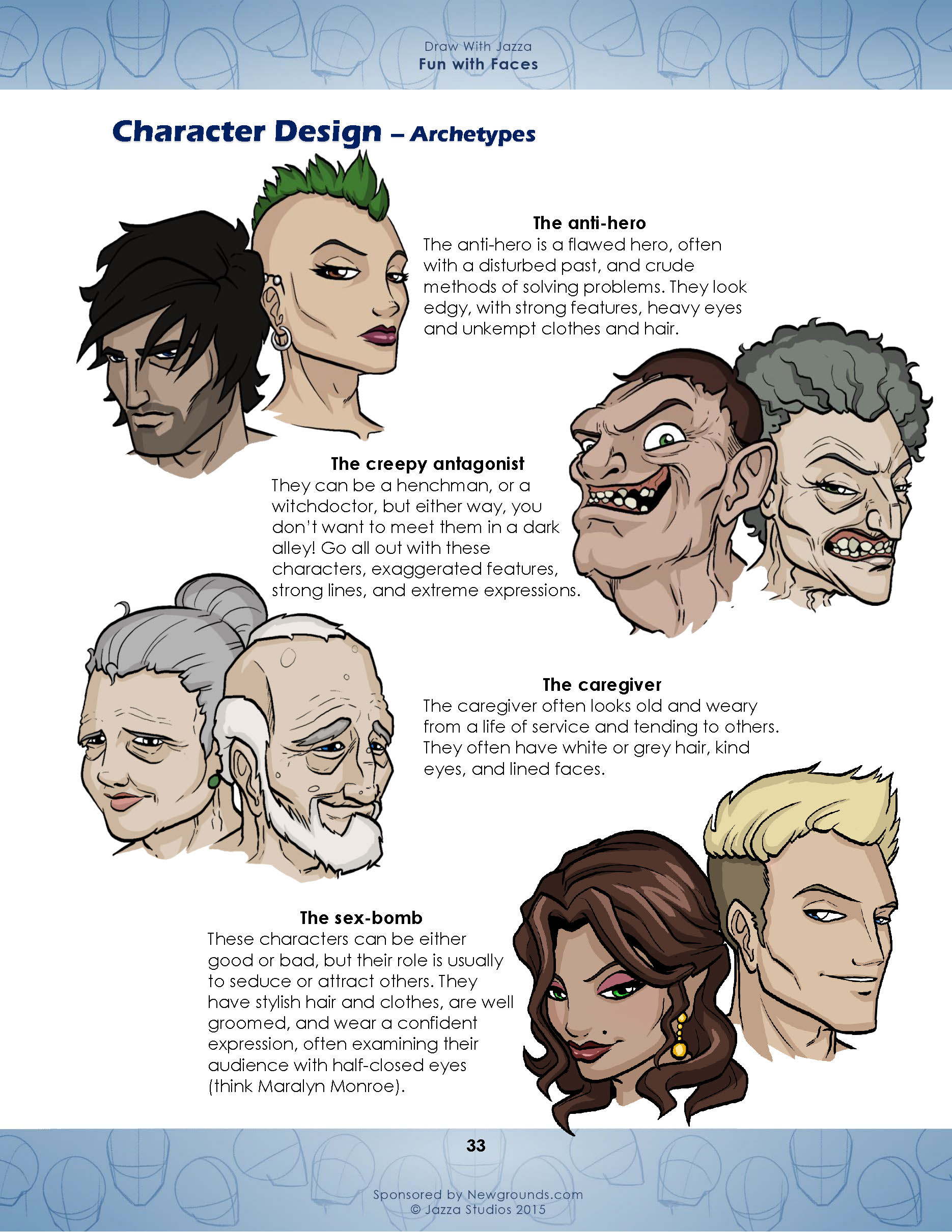 Character Design Tutorials Pdf : Draw with jazza fun faces studios