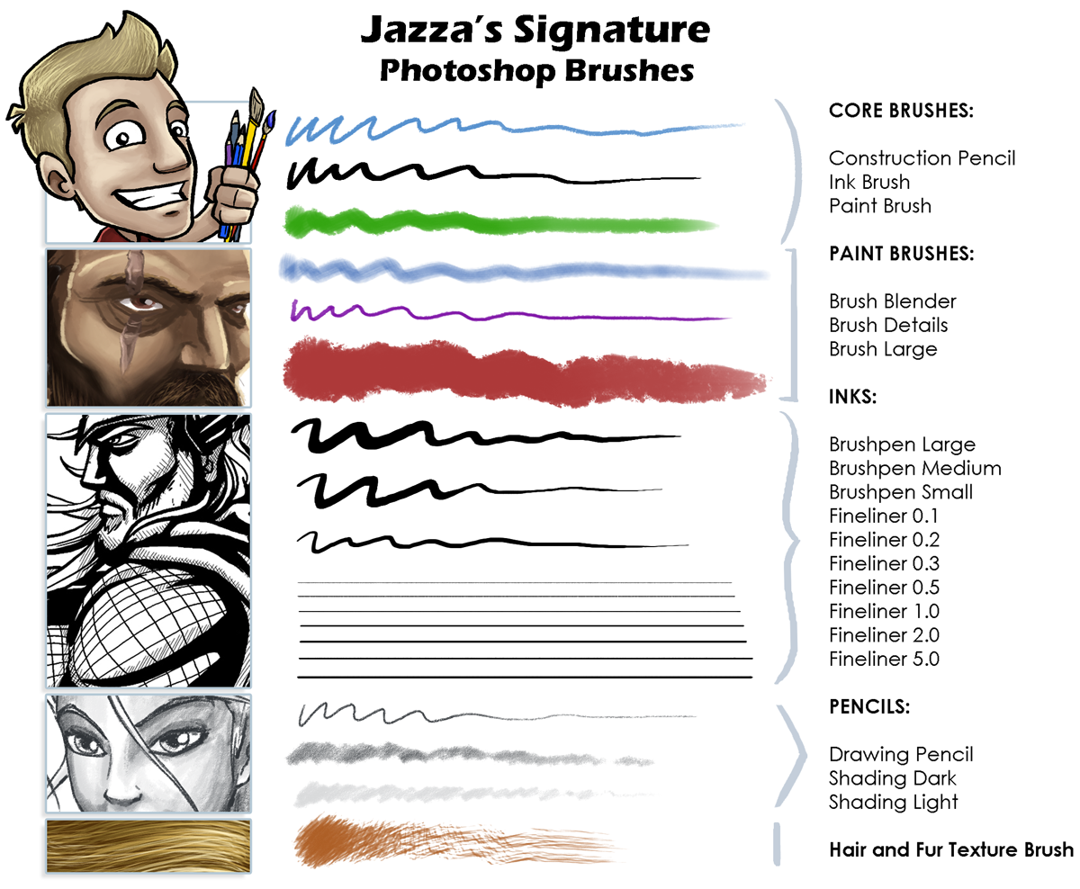 Jazzas signature photoshop brushes