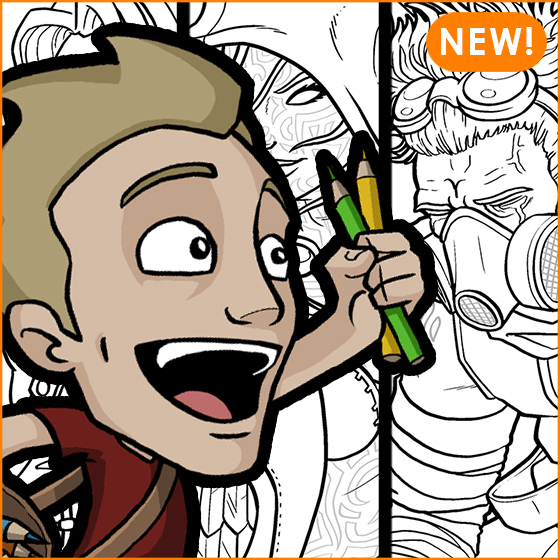 Jazza s coloring ebook jazza studios for Draw with jazza mural